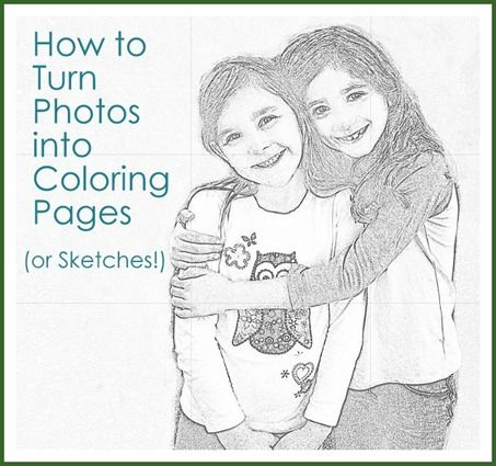 From Photos To Coloring Pages Or Sketches Diy Crafts For Gifts Photo Crafts Diy Coloring Pages