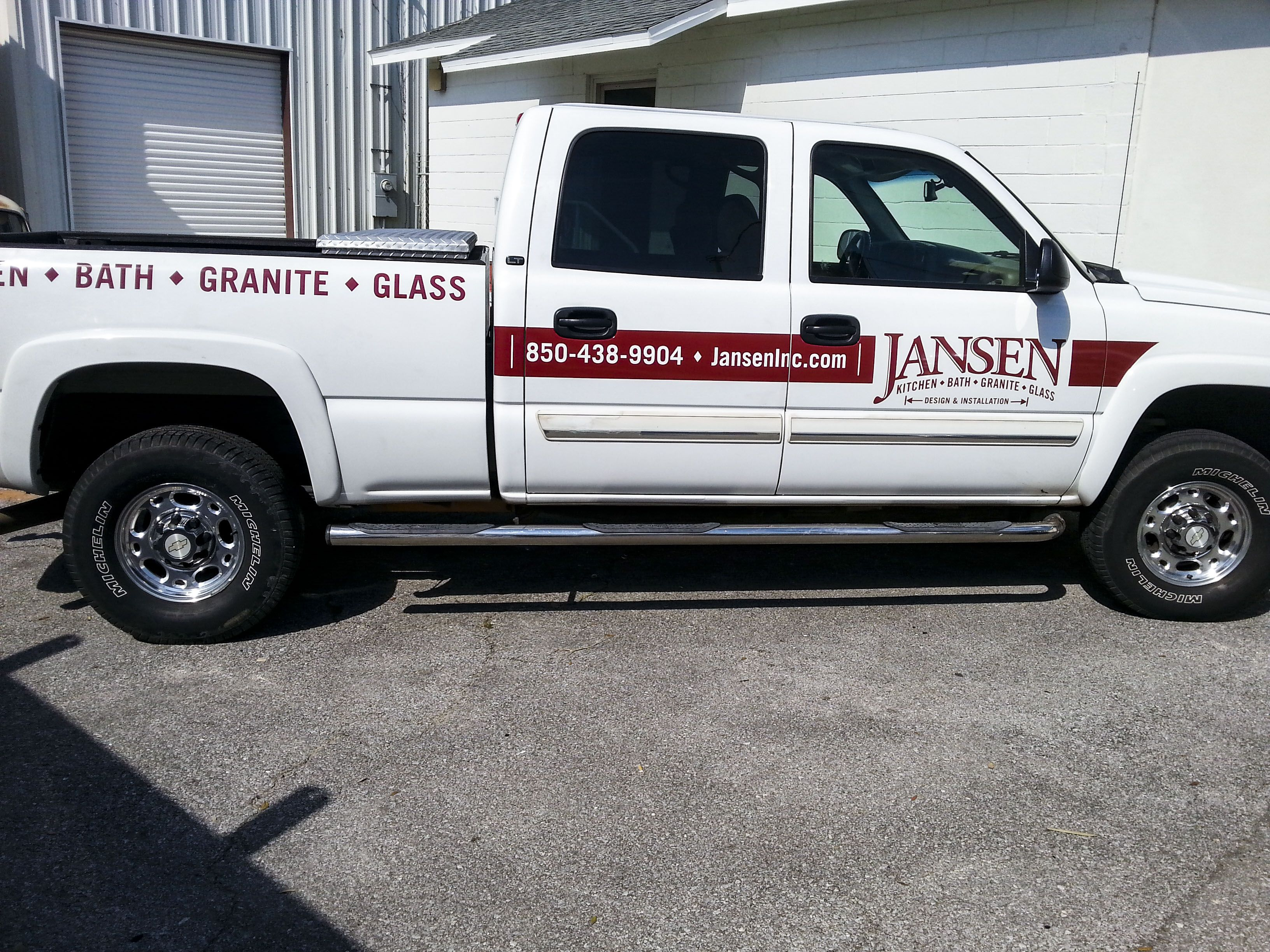 Truck graphics for Jansen by Pensacola Sign in Pensacola Florida