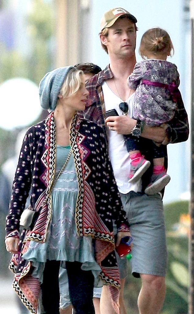 Chris Hemsworth Twin Sons
