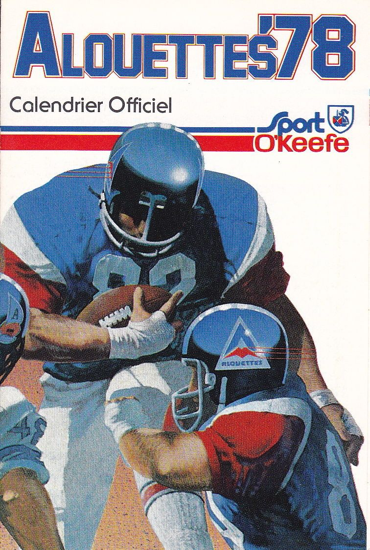 Details about 1978 MONTREAL ALOUETTES CFL FOOTBALL