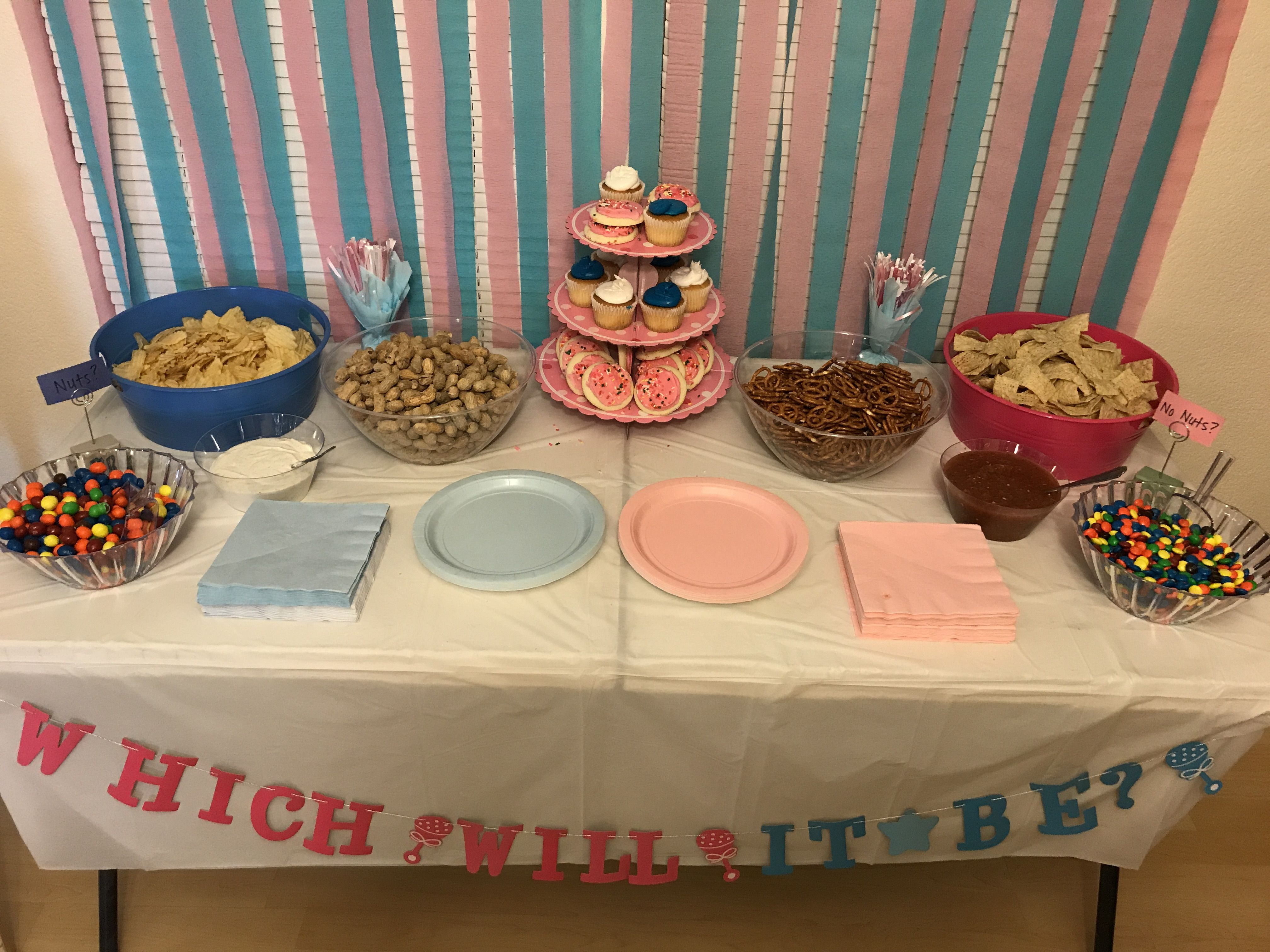 Gender Reveal Party Food Nuts Or No Nuts Gender Reveal Party Food Gender Reveal Cake Gender Reveal Party