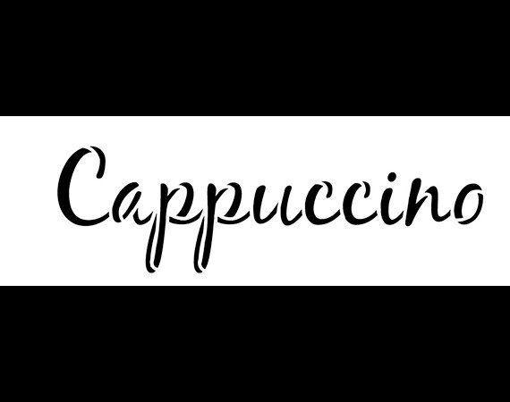 Cappuccino Word Art Stencil  Casual Script  Select por StudioR12