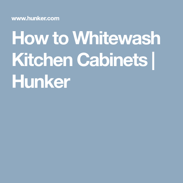 Knotted Oak Kitchen Cabinets: How To Whitewash Knotty Pine