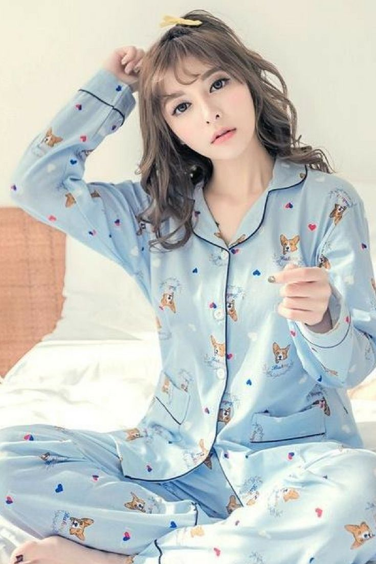 7d1e7d784a Dog Lovers are going crazy for these Super Cute Corgi Print Pajamas. The  two-set top and pants makes a perfect gift for any puppy lover.