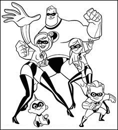 Top 10 The Incredibles Coloring Pages Your Toddler Will Love To Do Superhero Coloring Pages Cartoon Coloring Pages Disney Coloring Pages