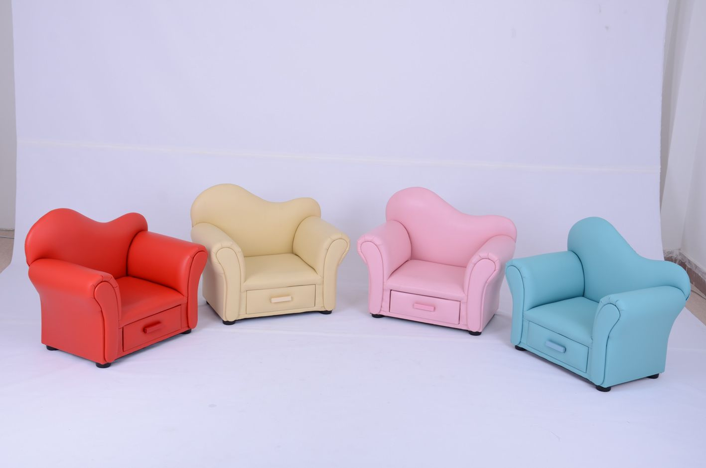 Leather Sleeper Sofa High quality Durable Children Furniture Leather Sofa Baby Chair SF
