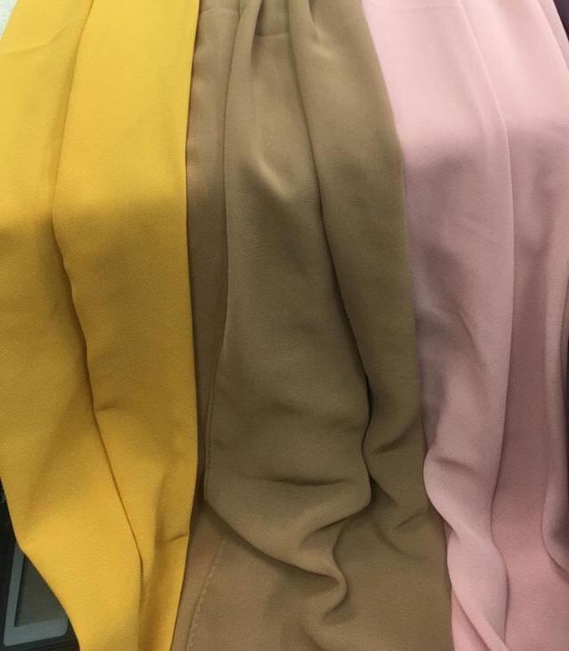 4ee41e31529e48 maxi hijab mousseline couleurs qalam dress beige noir camel rose violet vert  moutarde corail vert