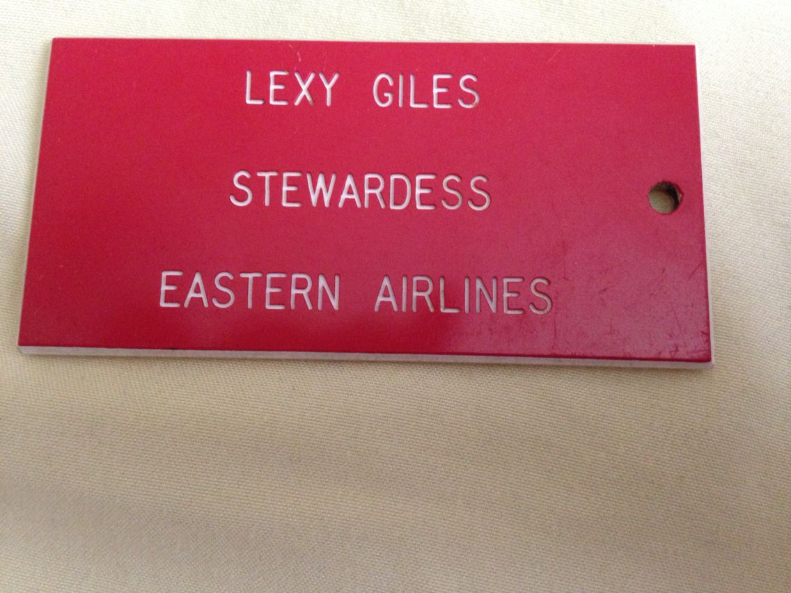 My first Crew Tag for red Samsonite luggage 1967