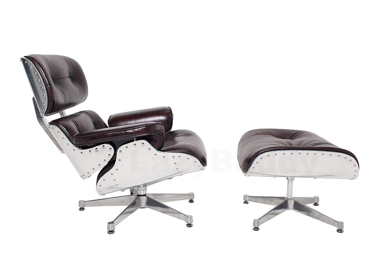 Mid century modern classic aluminum aviator lounge chair