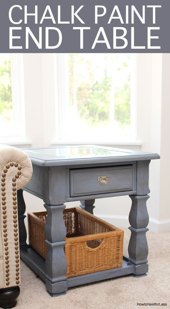 Old Violet Chalk Paint End Table How To Nest For Less Painted