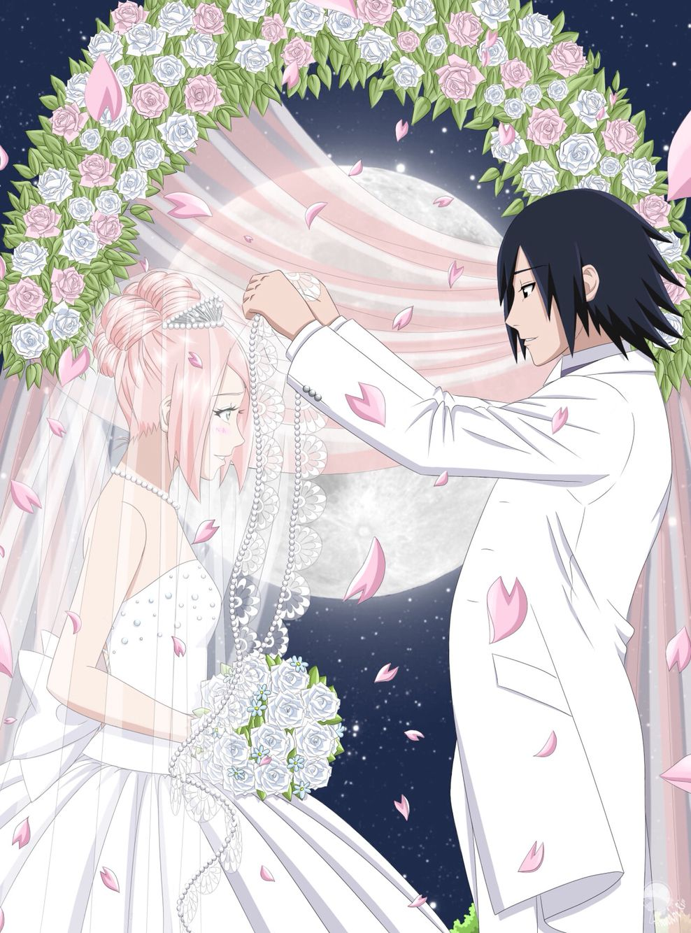 Картинки свадьбы сакуры и саске