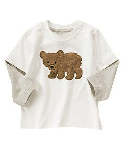 Fuzzy Bear Double Sleeve Tee Ezzi S Stuff Pinterest Baby Boys