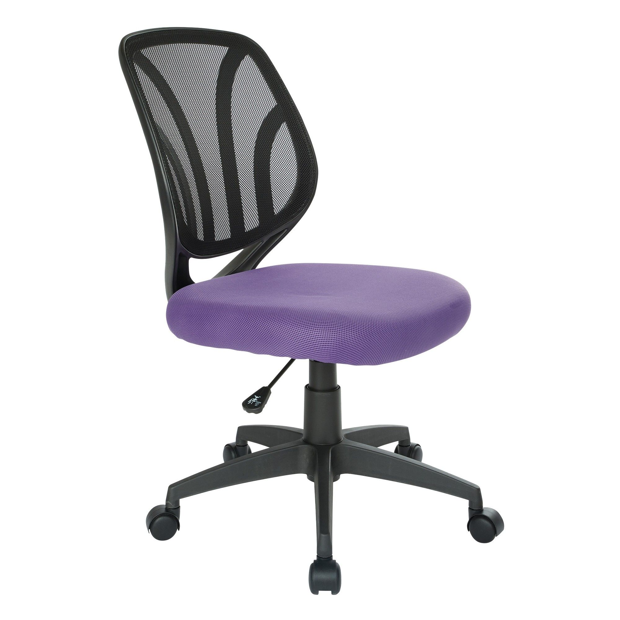 purple task chair outdoor table and chairs set screen back armless office star in 2018