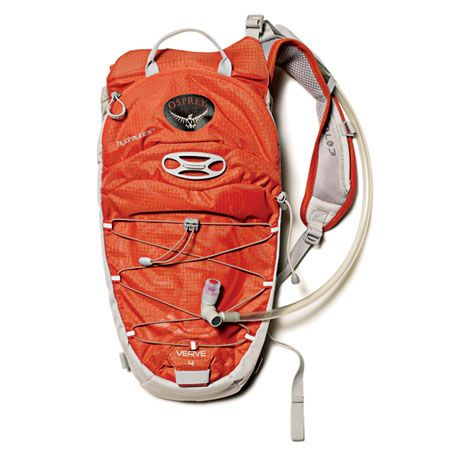 This hands-free Osprey Verve 4 hydration pack holds two liters of water, plus it has room to stash a phone, some cash, and an extra layer.