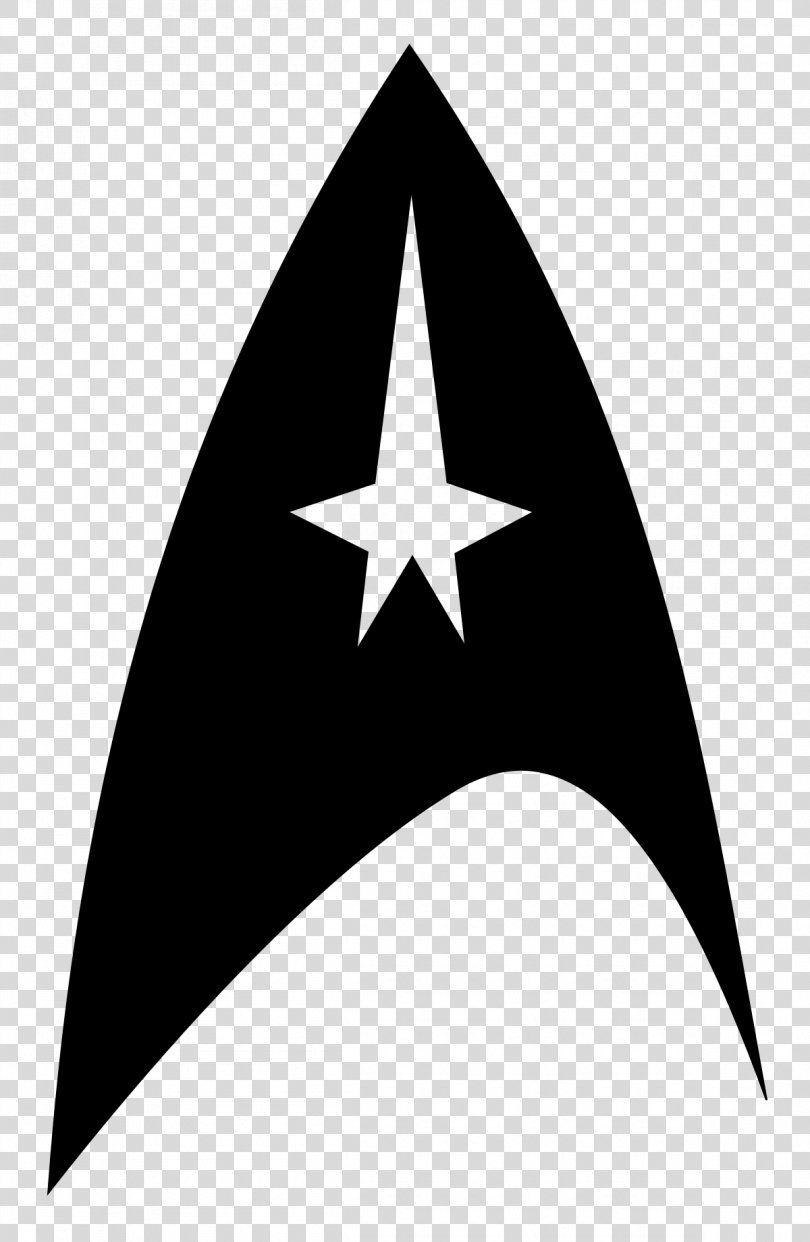 Star Trek Symbol Starfleet Logo Clip Art Star Trek Png Star Trek Black And White Decal Emblem Gene Roddenber Star Trek Symbol Star Trek Emblem Star Trek