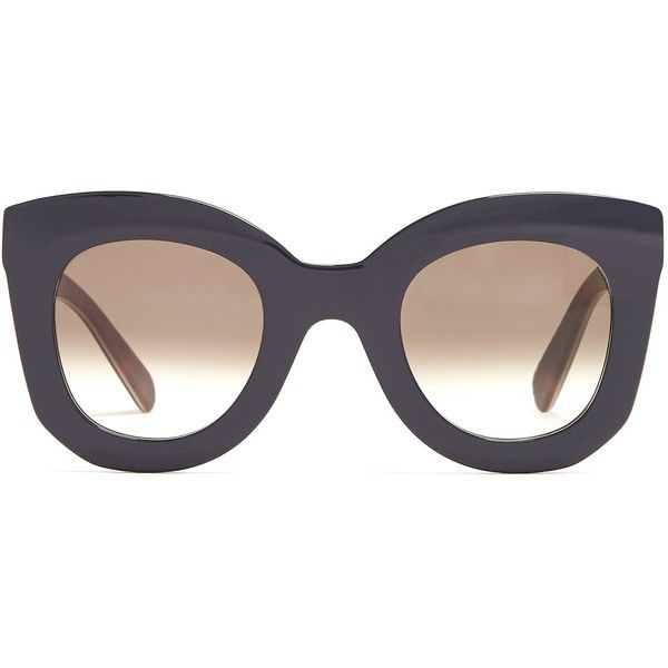 f41faef8ceb Céline Eyewear Marta cat-eye acetate sunglasses ( 345) ❤ liked on Polyvore  featuring accessories