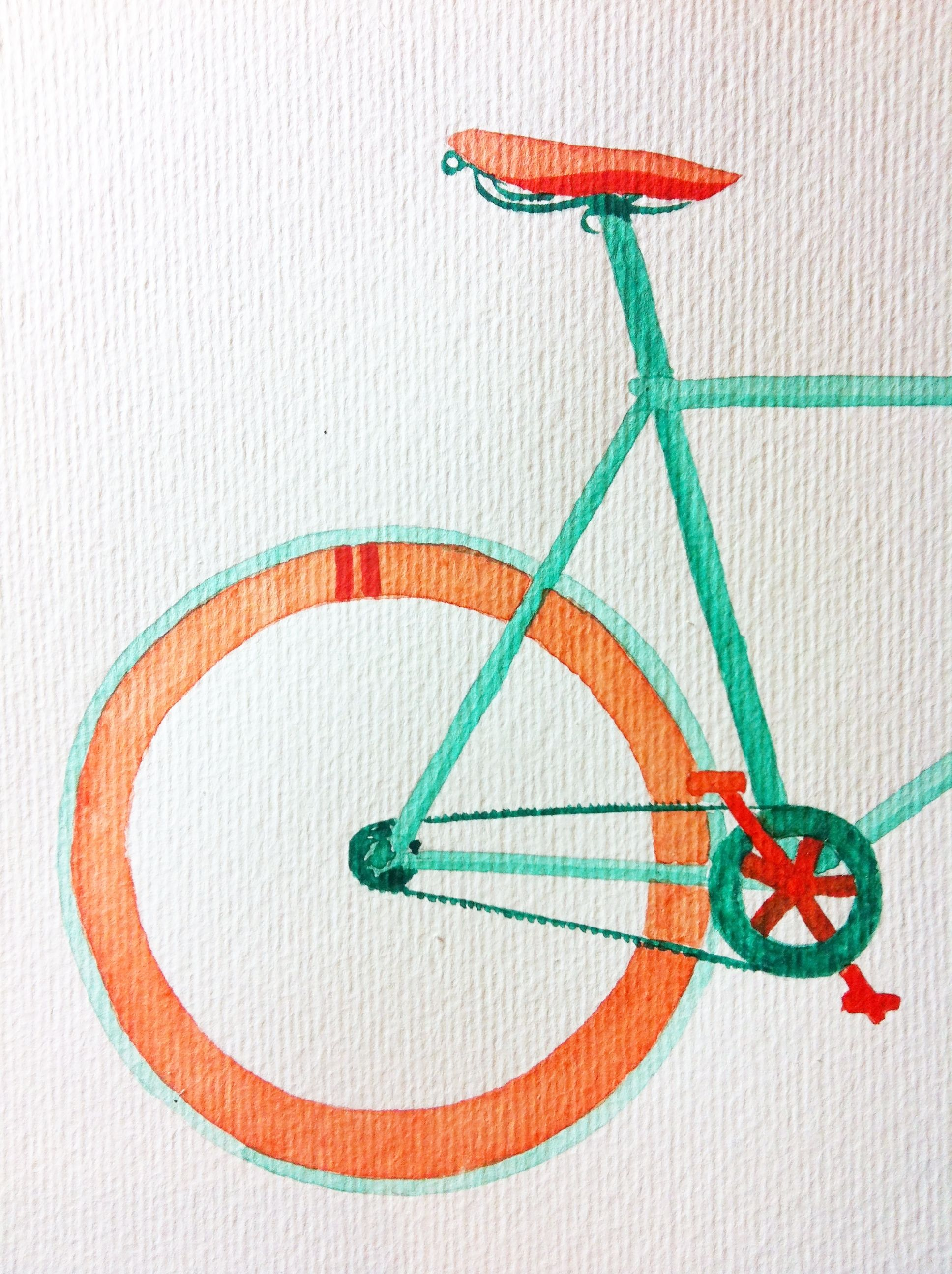 Watercolour Bicycle, by Serena Olivieri | art | Pinterest | Hochrad ...