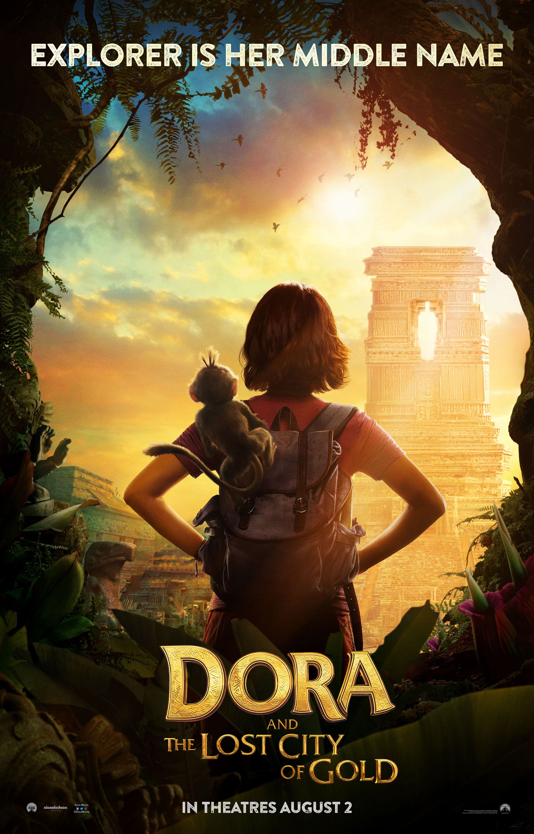 Dora the Explorer live-action movie posters explore the Lost City of Gold