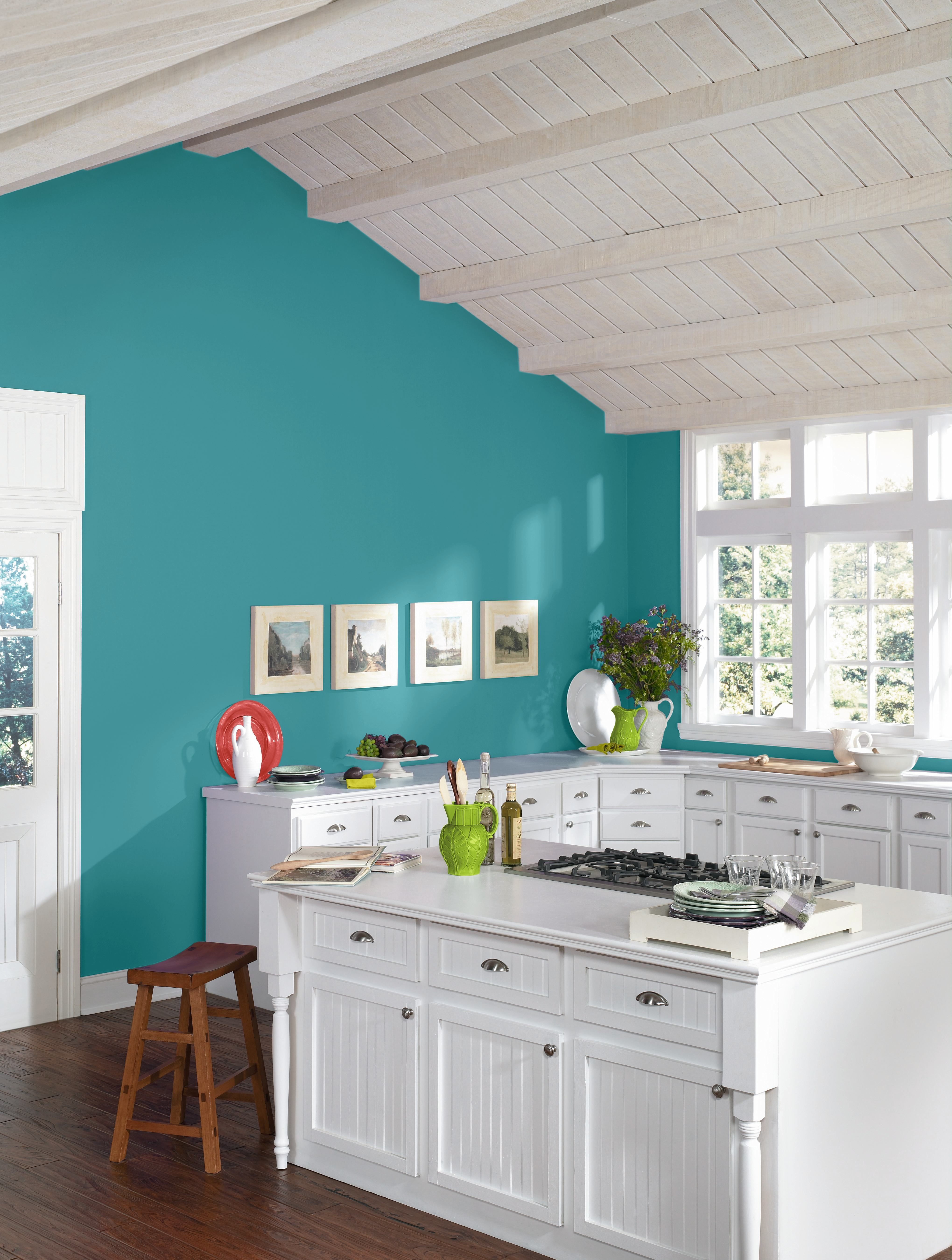 High Voltage color palette in kitchen. For more design ideas ...