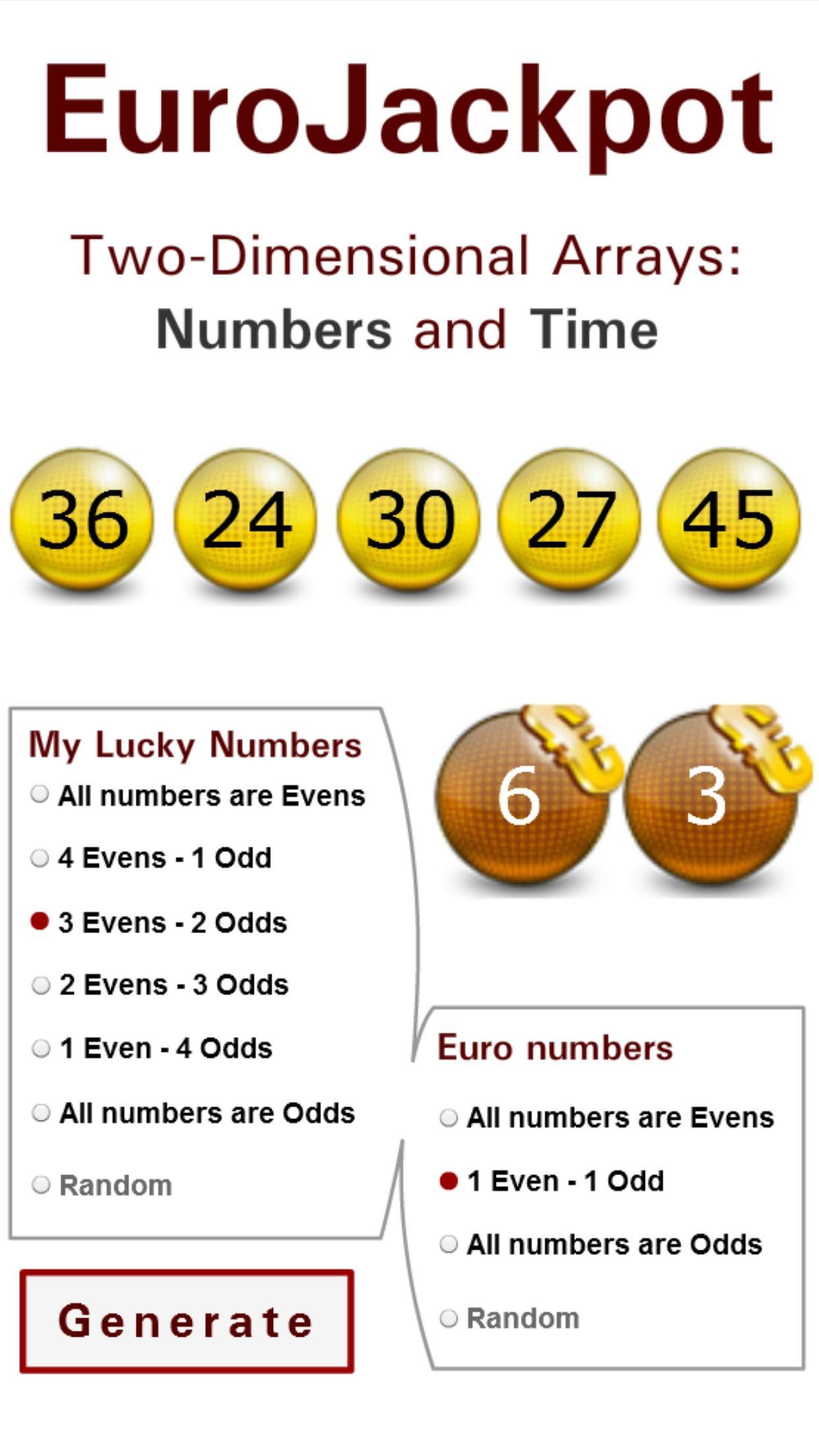 Eurojackpot Winning Lottery Numbers Lotto Winners Winning Numbers