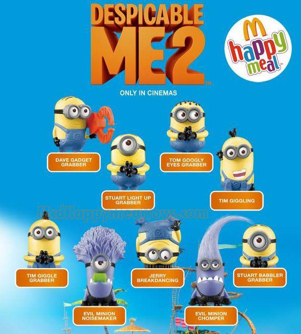 despicable me 2 happy meal toys photos | McDonald's Happy Meal Toys : Despicable Me 2