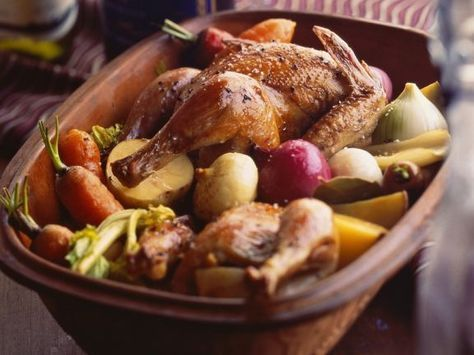 Photo of Chicken with vegetables from the Roman pot