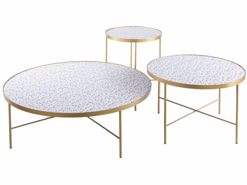 Stoliki Kawowe Lastryko 3 Set Stelaz Zloty Wonder Sfmeble Pl Coffee Table Furniture Home Decor