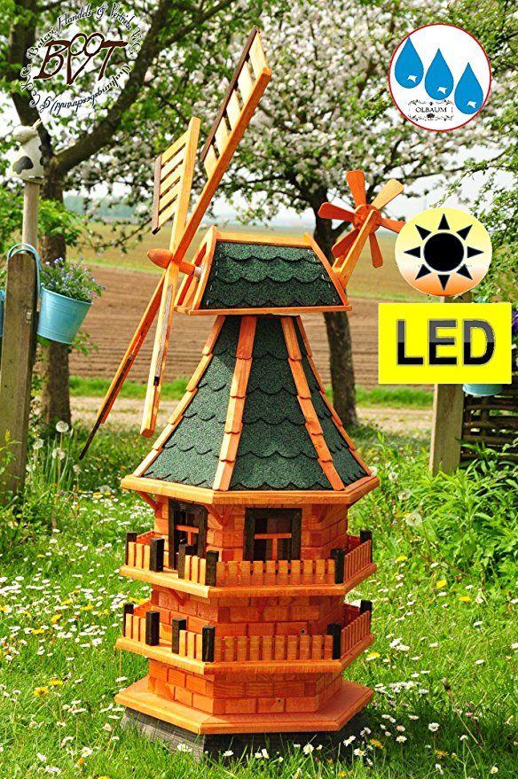 windmühle aus holz designmühle xxl gartenwindmühlen