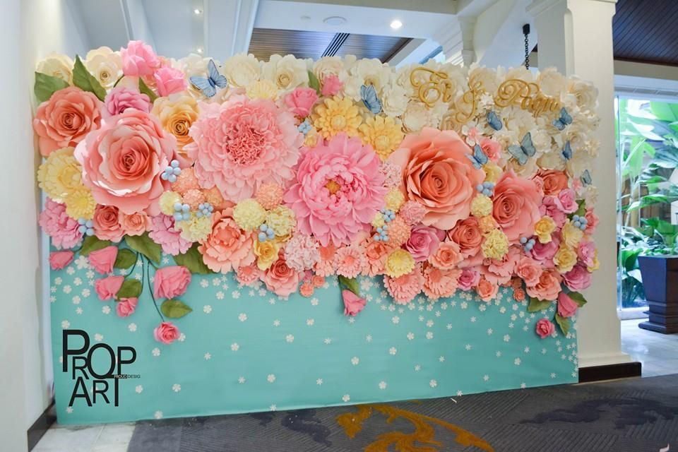 Wedding paper flowers wall anything flowers pinterest paper wedding paper flowers wall mightylinksfo