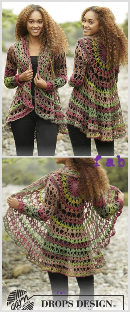DIY Fall Festive Crochet Circle Jacket Free Pattern | Círculos ...