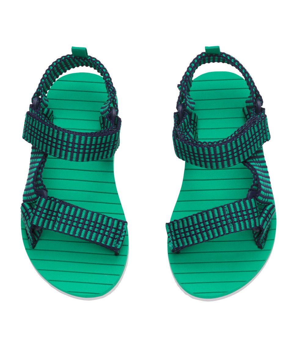 66ccd4d155e64 Sandals with fabric straps | H&M Kids | H&M KIDS | Kids sandals ...