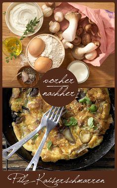 Die herzhafte Variante der Eierspeise.  http://eatsmarter.de/rezepte/pilz-kaiserschmarren