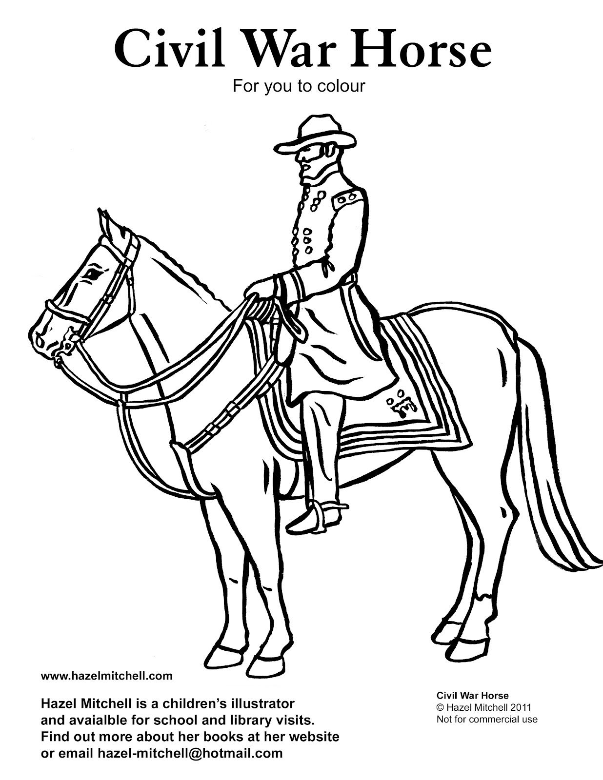 Civil War Coloring Pages Forget To Follow My Blog So You Will Receive The Latest Kid S Page Animal Coloring Pages War Horse Coloring Pages [ 1600 x 1236 Pixel ]