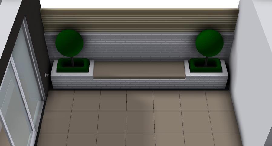 Wonderbaarlijk Afbeeldingsresultaat voor tuinbank met plantenbak   Tuin bank in GT-63