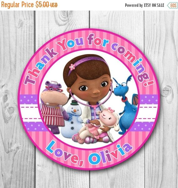 Welcome to CuteInvitation! Doc McStuffins Thank You Tag - Doc McStuffins Stickers - Doc McStuffins Party - Doc McStuffins Printables This listing is for the creation and delivery of a DIGITAL FILE for you to print yourself. NO PHYSICAL PRODUCT WILL BE SHIPPED. Size of the tag 2,5 **HOW IT WORKS?** 1. Purchase the design you like (you only need to buy 1) and check out via PayPal. 2. Please write at note to seller • Name 3. Upon receipt of your complete information, I will begin customiz...
