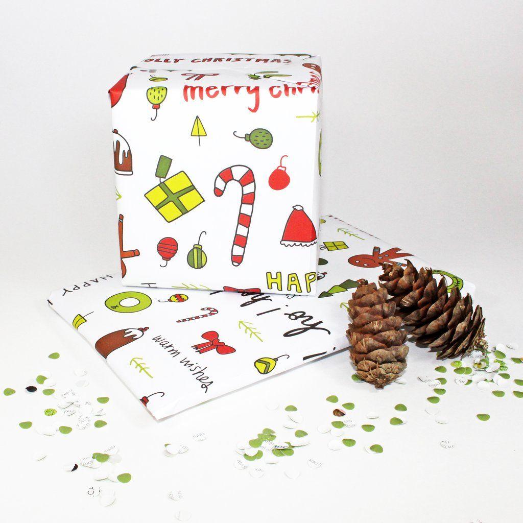 White Christmas Gift Wrap | Holidays | Pinterest