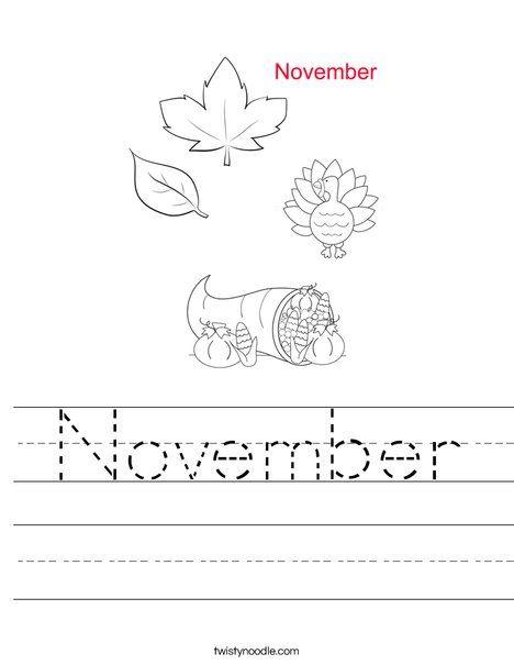 November Worksheet - Twisty Noodle | Phonics reading ...