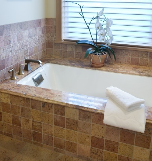 granite tub surround, granite tub desk | Wet areas ...