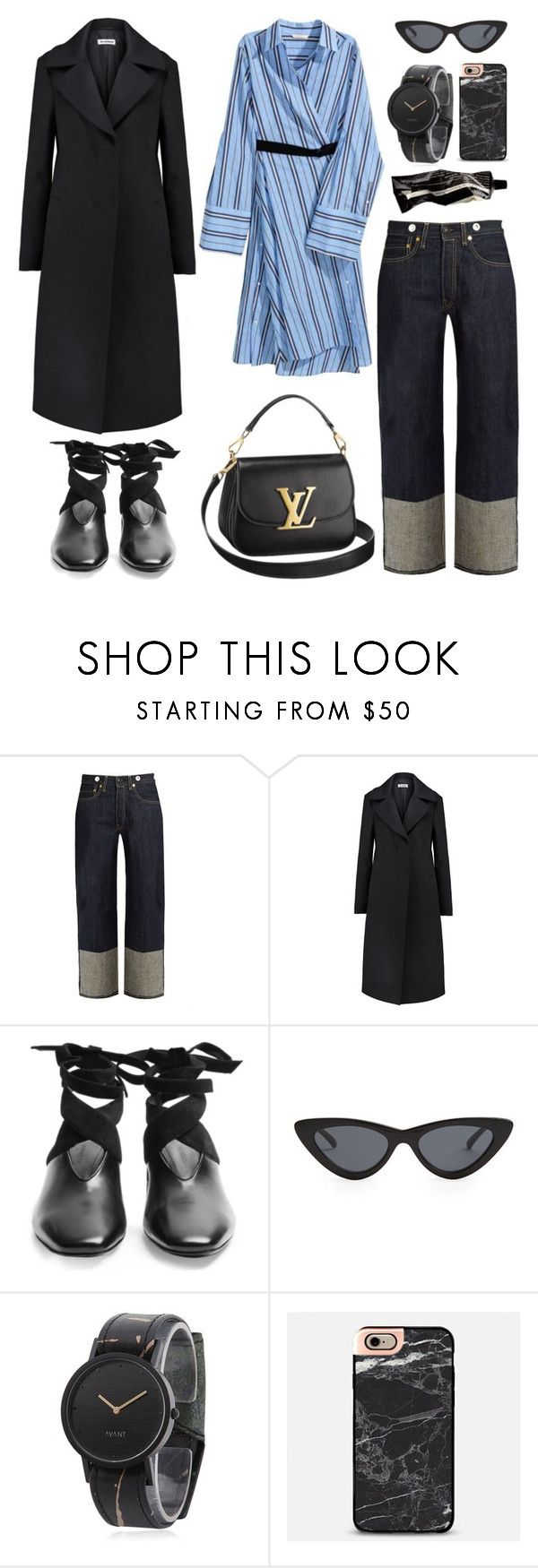 """""""Unbenannt #878"""" by fashionlandscape ❤ liked on Polyvore featuring rag & bone, Jil Sander, J.W. Anderson, Louis Vuitton, Le Specs, South Lane, Casetify and Aesop"""