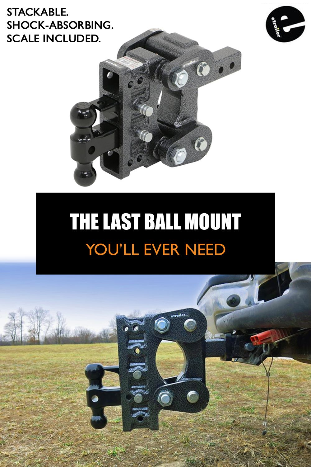 Gen Y Torsion 2 Ball Mount W Stacked Receivers 2 Hitch 5 Drop Rise 16k Gen Y Hitch Trailer Dump Trailers Trailer Hitch Receiver Best Trailers