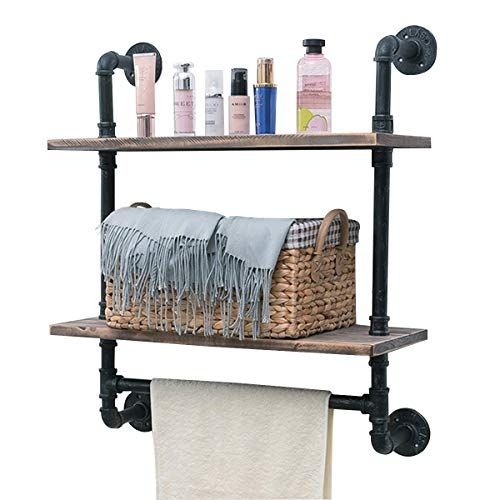 Wall Mounted Tiered Towel Rack