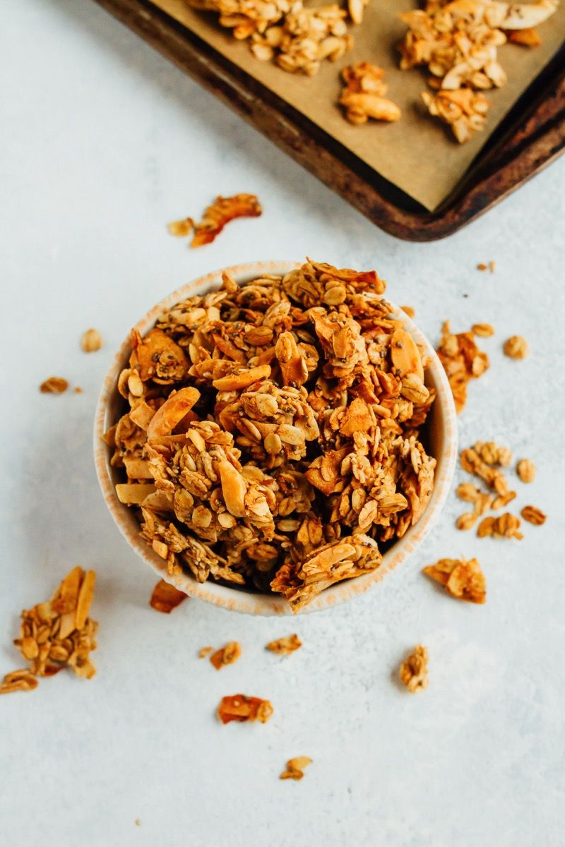 Coconut almond granola recipe with images almond