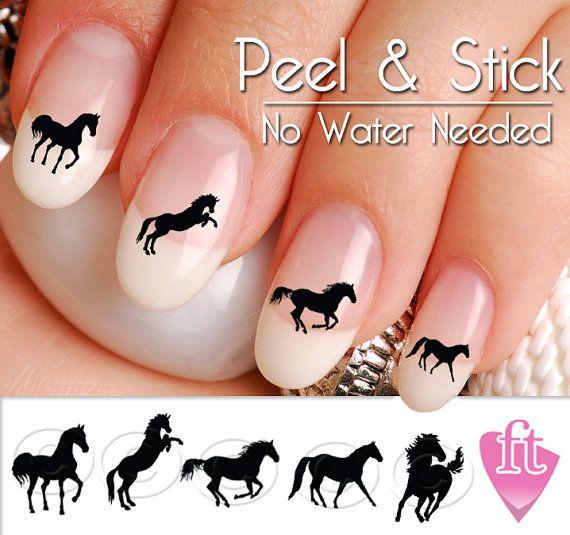 Horse Nail Art Decals - Western Horse Nail Art Decal Sticker Set - Horse Nail Art Decals - Western Horse Nail Art Decal Sticker Set