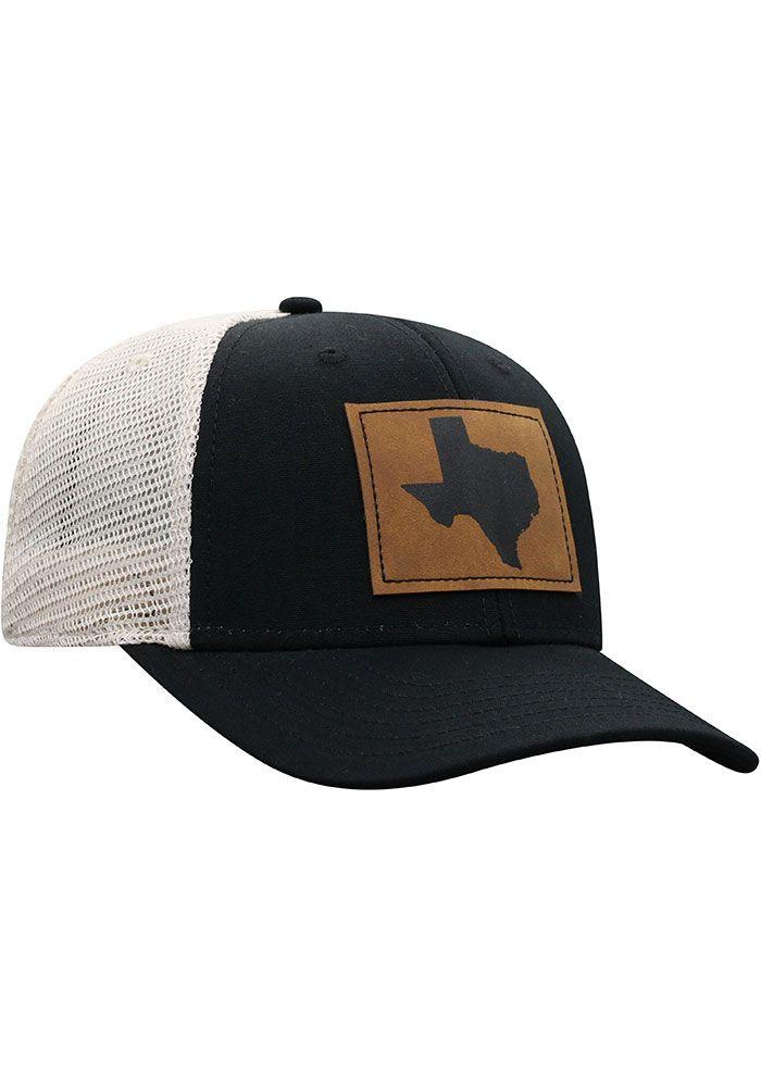 best cheap f38d0 f2adb Top of the World Texas Mens Black Precise Meshback Adjustable Hat, Black,  COTTON