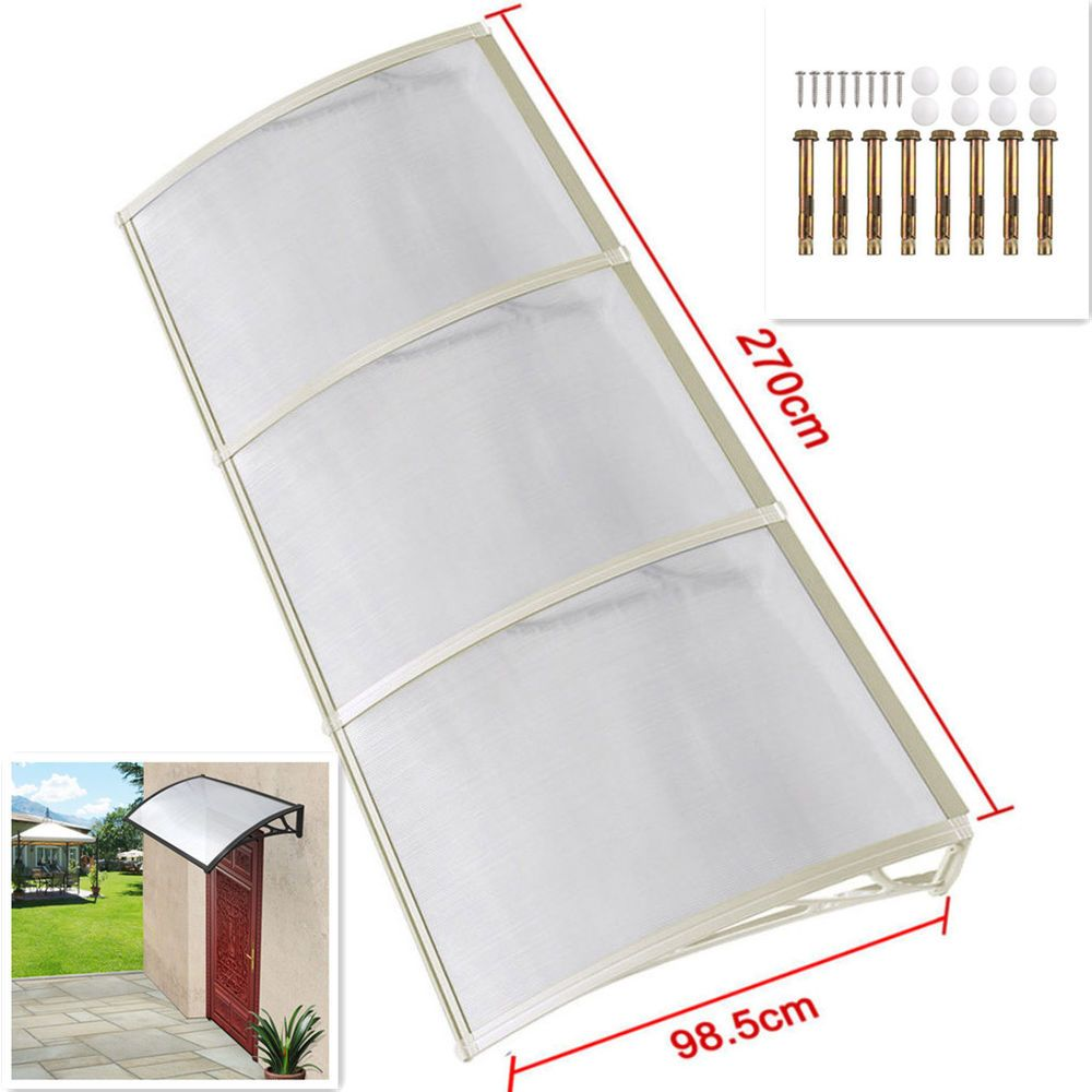 White Outdoor Rain Awning Door Canopy Front Back Porch Shelter Patio PC Sheet UK  sc 1 st  Pinterest & White Outdoor Rain Awning Door Canopy Front Back Porch Shelter ...