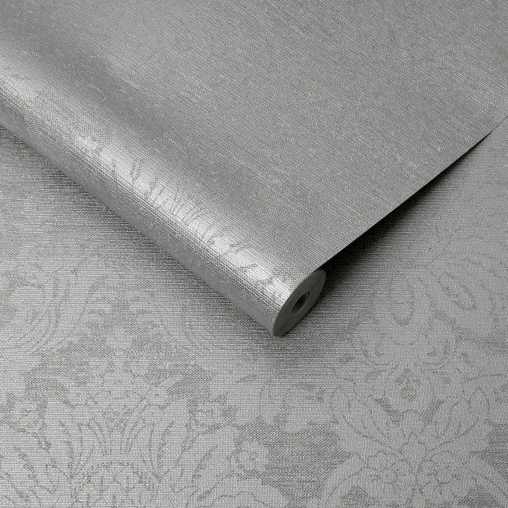 Vogue Dove Grey Grey Wallpaper Grey Damask Wallpaper Boutique Wallpaper