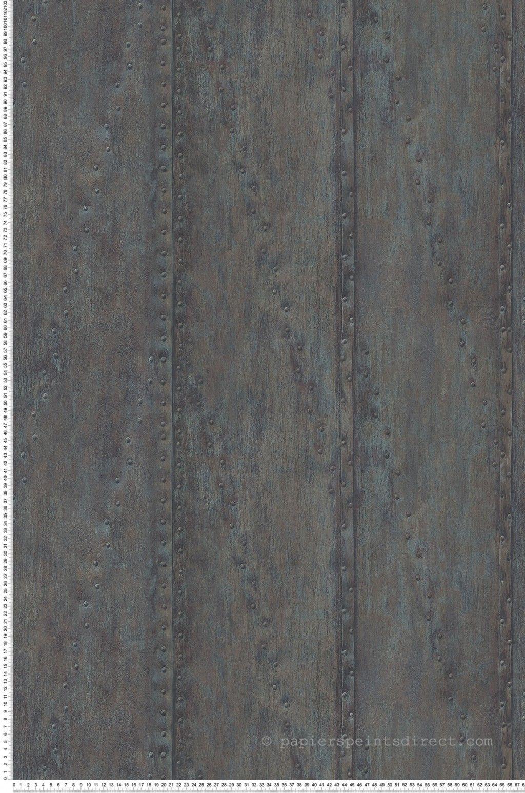 Papier Peint Plaque métal gris foncé - Structure de Lutèce | Réf ...