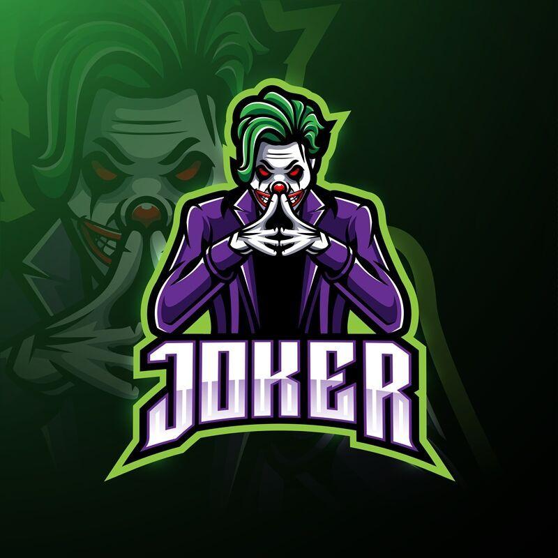 Joker Esport Mascot Logo Design By Visink Thehungryjpeg Com Mascot Aff Esport Joker Logo Adver Joker Logo Photo Logo Design Art Logo