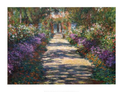 Garden at Giverny by Monet