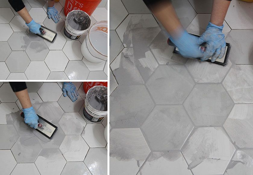 Colored Grout And New Tile Create Fresh Bathroom Look Grout